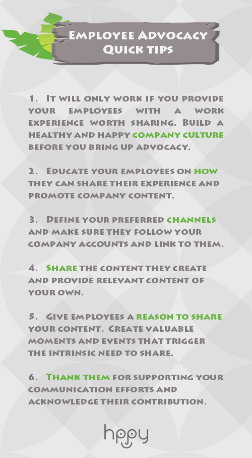 Recruitment strategy - Employee advocacy quick tips&tricks