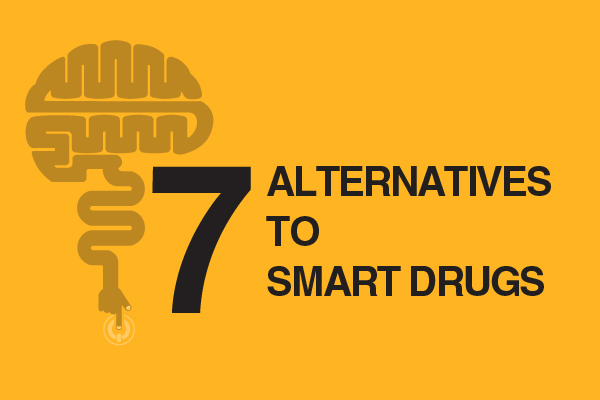 "7-alternatives-to-smart-drugs Whether in the news, online, or in popular media, we have probably all heard of ways of enhancing our cognitive abilities through nootropics, also called ""smart drugs"". But there has been some controversy concerning the moral, ethical, and health implications of their use. As research advances, new smart drugs are discovered or created in labs. Their use does not show any signs of slowing. But with research come advancements in the alternatives to smart drugs. Many people are turning to these alternatives to replace or to enhance the benefits of drugs. But are they any less morally and ethically ambiguous? Are they any safer? Are they better for productivity? We will look at seven alternatives to smart drugs and see what the research tells us. Pathways to cognitive enhancement 1. Brain stimulation This may sound like the stuff of science fiction, but many people are trying to improve cognitive functioning through electrical currents and lasers directed toward their brains. Transcranial direct current stimulation (tDCS) used electrodes placed on the scalp to pass a low electrical current through the brain. Various studies have shown that tDCS can improve accuracy, performance, learning, and working memory. Researchers need to do more research on the long-term effects of this treatment and more specifics about how to make the treatment work accurately, but beginning research shows that it has potential to increase cognitive functioning. In transcranial laser stimulation, also called low-level light therapy, pulses of light provided by lasers or LEDs are directed at the entire head or a specific part of the skull. The theory behind this intervention is that light in the red and near-infrared regions of the spectrum can pass through the skull and brain. The energy from the lights activates cells and creates growth and repair functions in the brain. Studies have shown that laser or light stimulation can increase attention, accuracy, and memory. 2. Neurofeedback Using real-time feedback about brain activity, neurofeedback can help people focus on certain tasks in order to achieve higher activity levels in certain areas of the brain. Various studies have shown that neurofeedback provides enhancements in perception, motor skills, and memory. Neurofeedback has turned into a growing business as companies use it to reach ""peak performance."" Olympic athletes, NASA astronauts, US soldiers, musicians, poker players, surgeons, business executives, and many more groups of people have all used neurofeedback to target certain areas of the brain. 3. Hyperbaric oxygen Hyperbaric oxygen requires that a person lay down in a sealed chamber while they breathe in pressurized air containing 100% oxygen. While there are few studies available, one study showed that hyperbaric oxygen increased memory and cognitive performance. [fullwidth background_color="